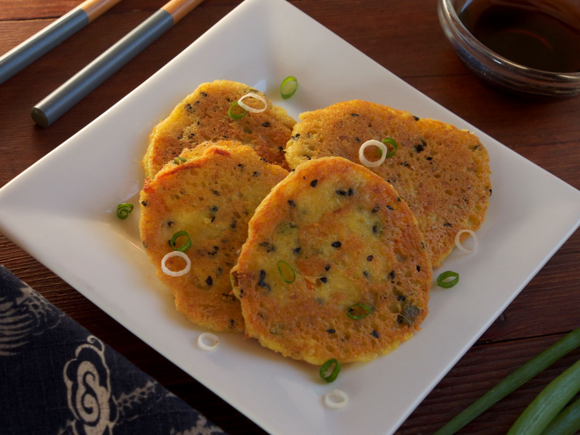 Picture of Savory Scallion Pancake Batter (Vegetarian)