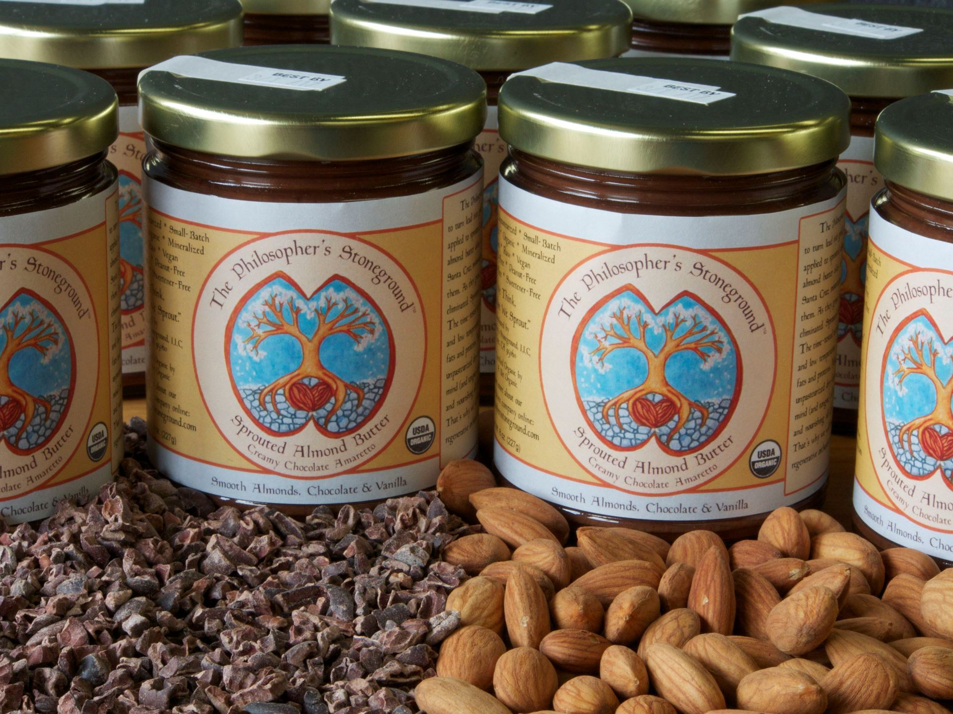 Picture of Small Crunchy Chocolate Sprouted Almond Butter--The Philosopher's Stoneground