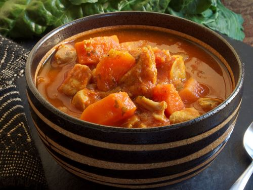 Picture of Frozen -- West African Chicken Stew with Cabbage and Carrots - 22 oz