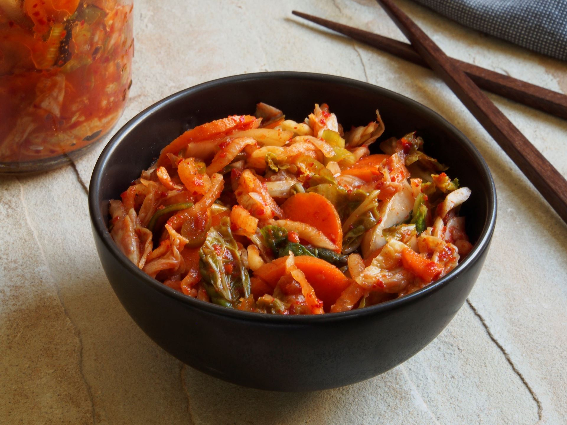 Picture of Spicy Red Kimchi with Carrots