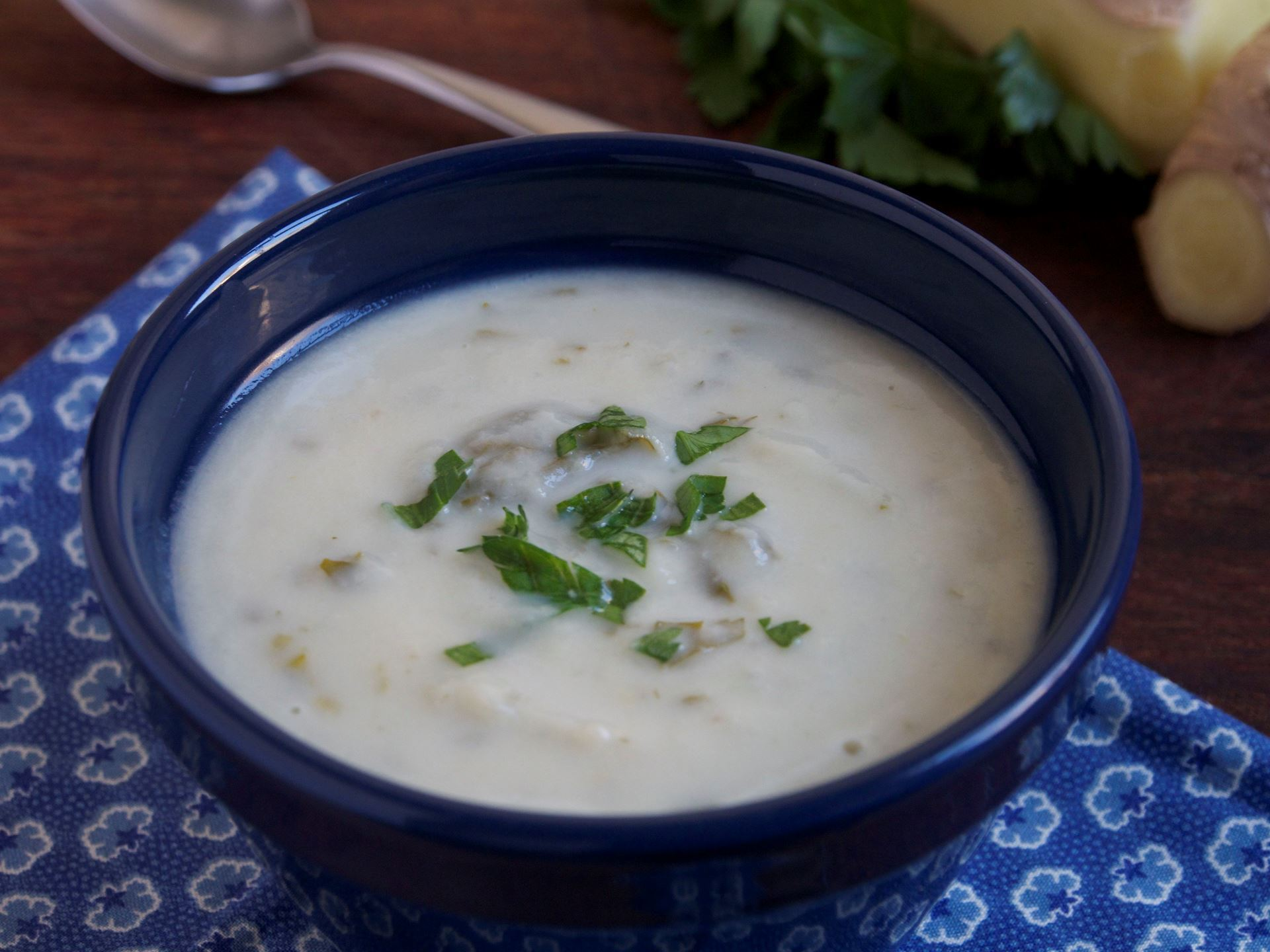 Picture of Frozen -- Creamy Cauliflower Soup with Lemongrass and Ginger (Vegan)