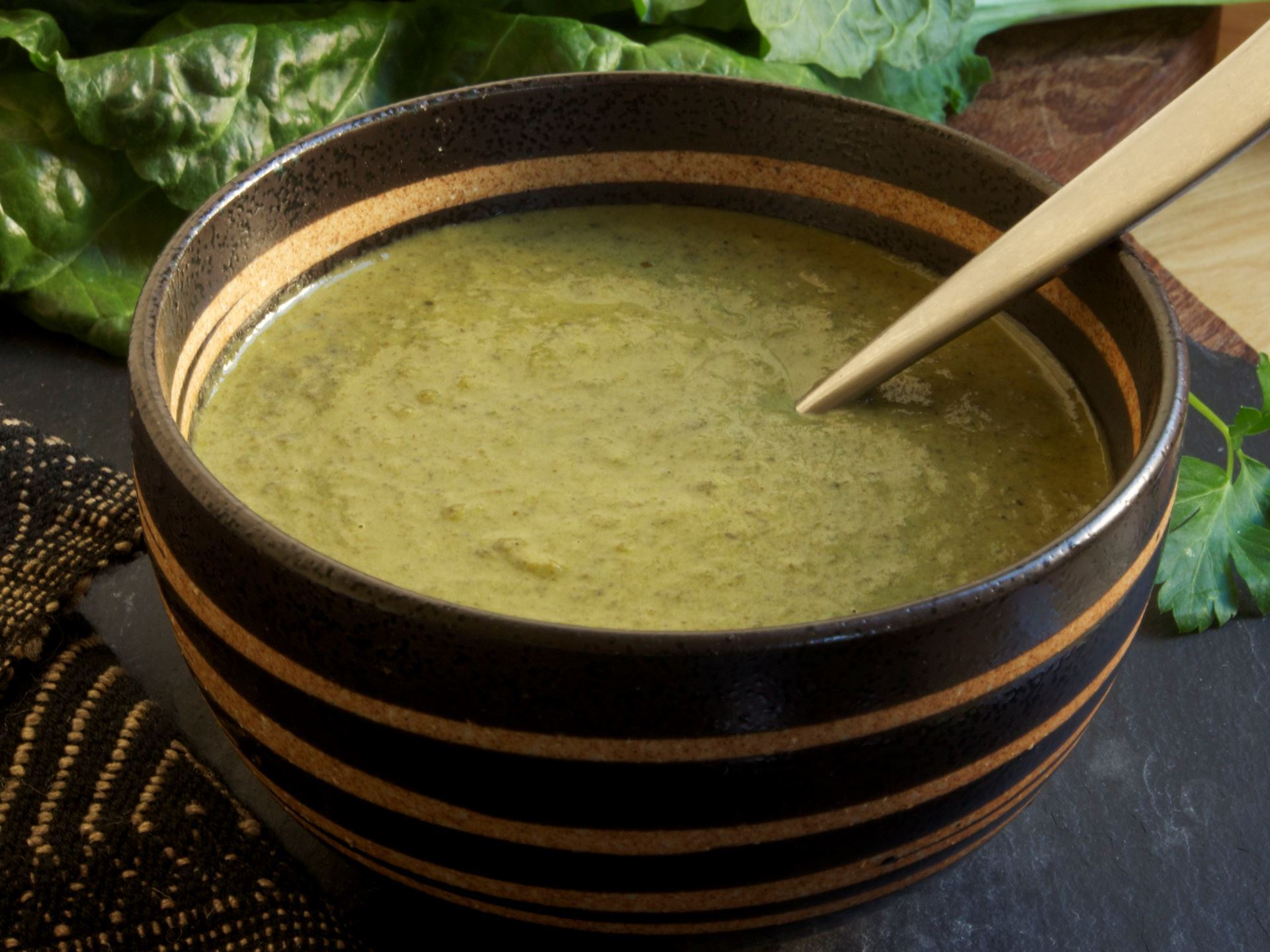 Picture of Frozen -- Caribbean Cream of Greens Soup (Callaloo)