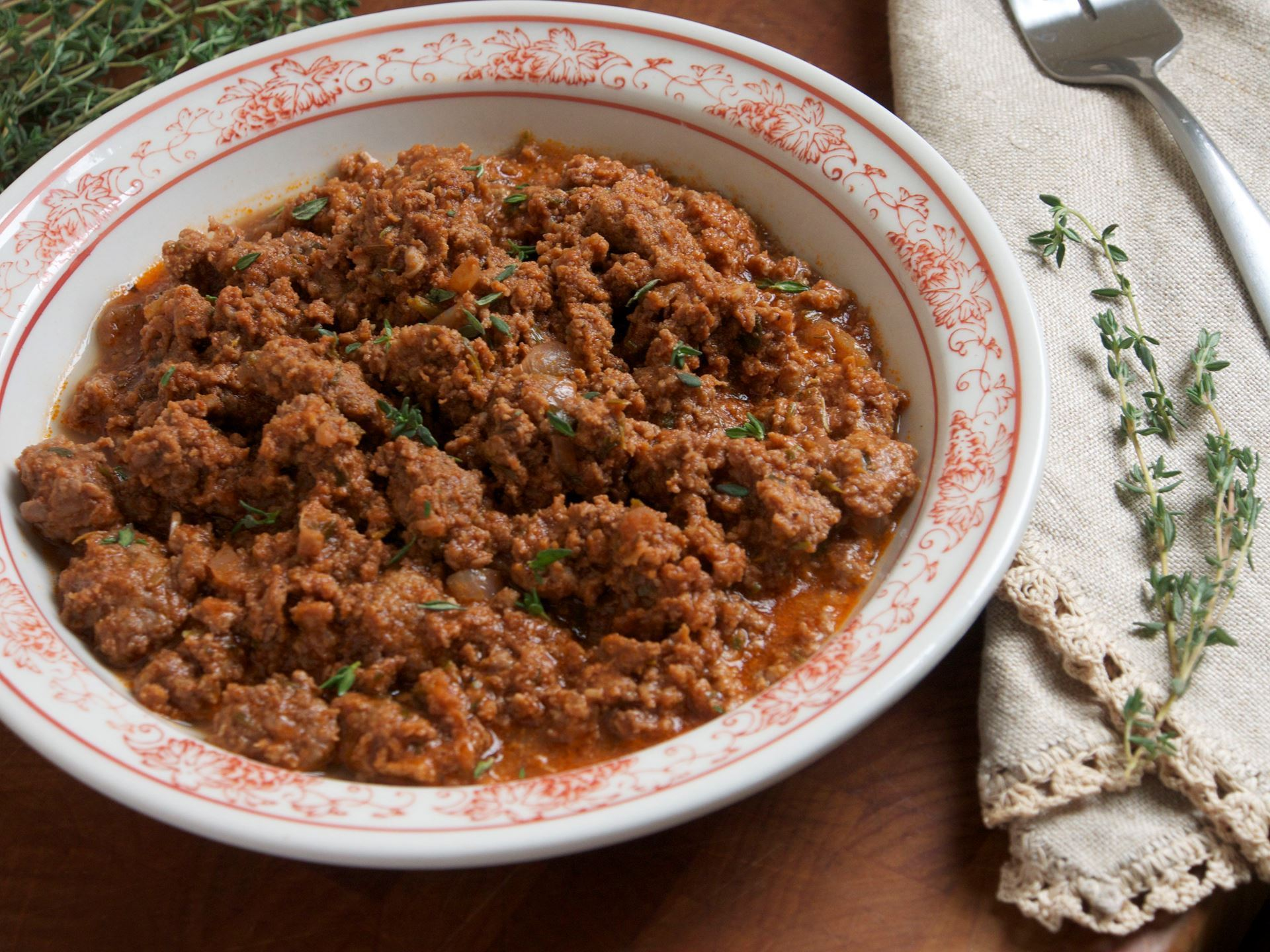 Picture of Frozen -- Ground Beef al Greco (Meaty Pint)