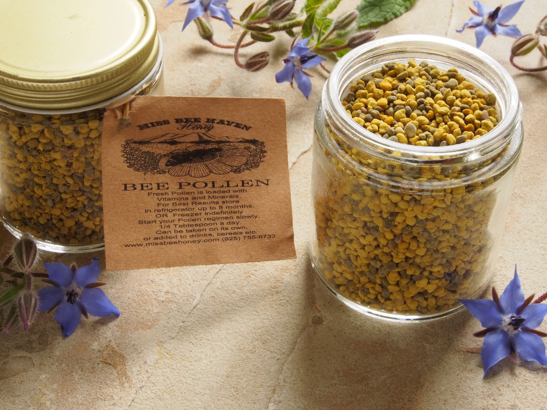 Picture of Miss Bee Haven Wild Bee Pollen -- Frozen