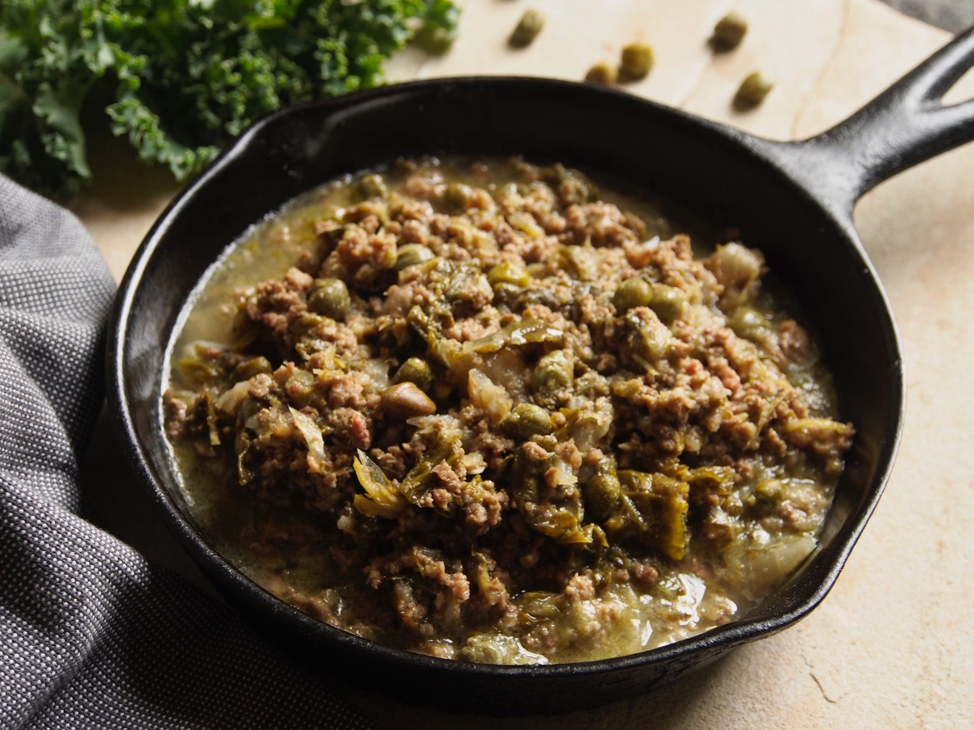 Picture of Frozen -- Mediterranean Ground Beef Skillet