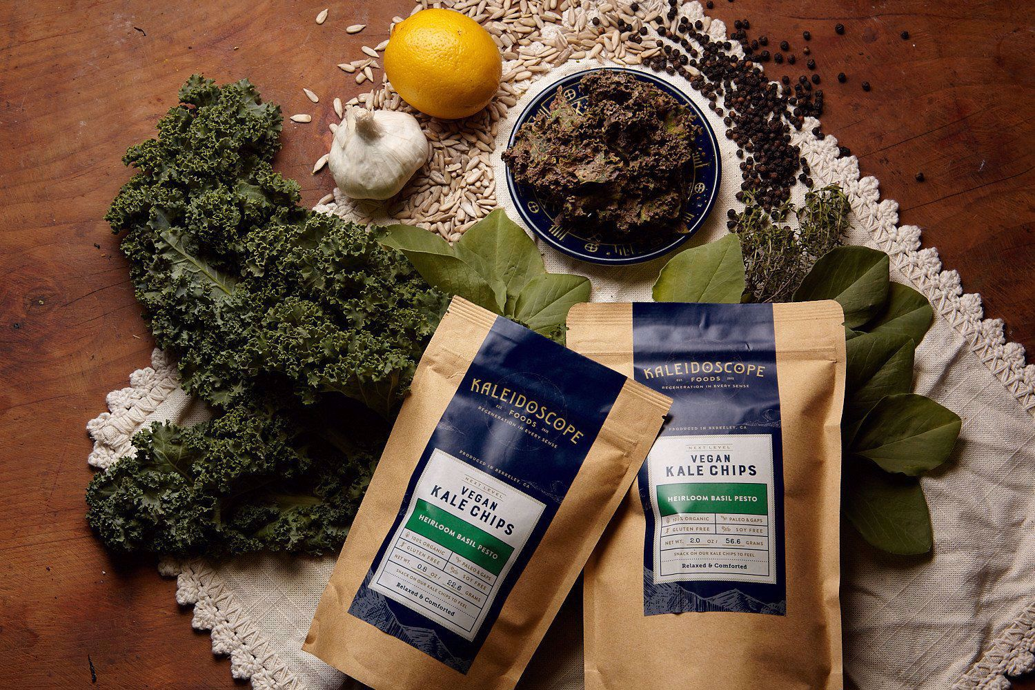 Picture of Kale Chips BAG: Heirloom Basil Pesto