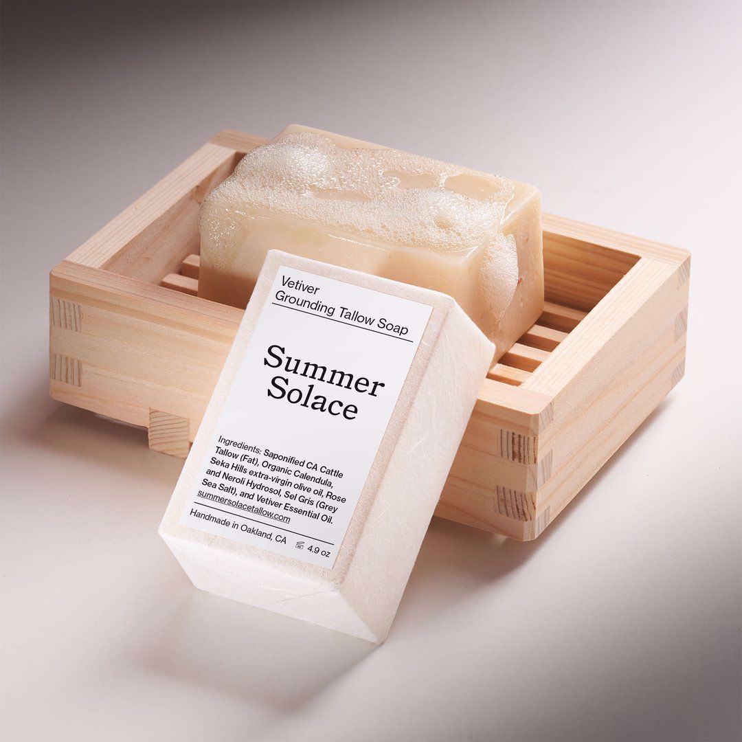 Picture of Summer Solace Vetiver Grounding Tallow Bar Soap